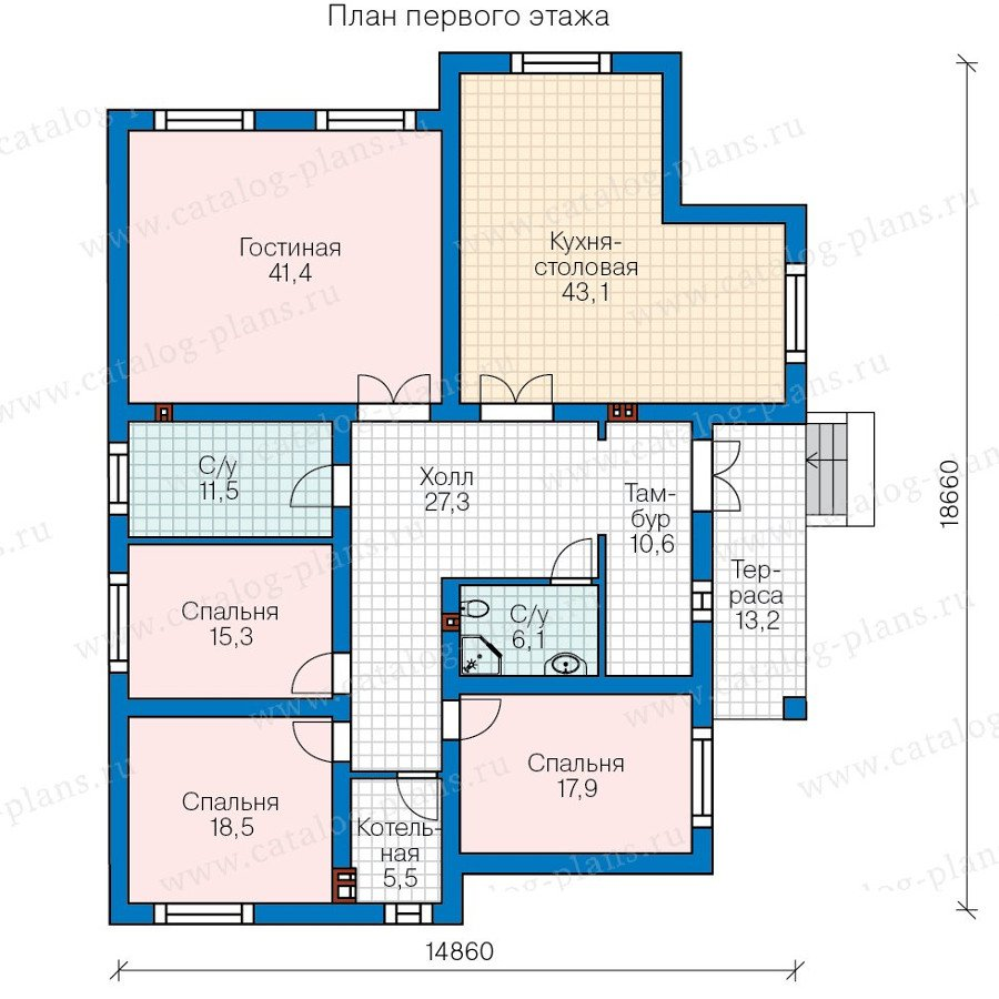 План 1-этажа проекта 58-01