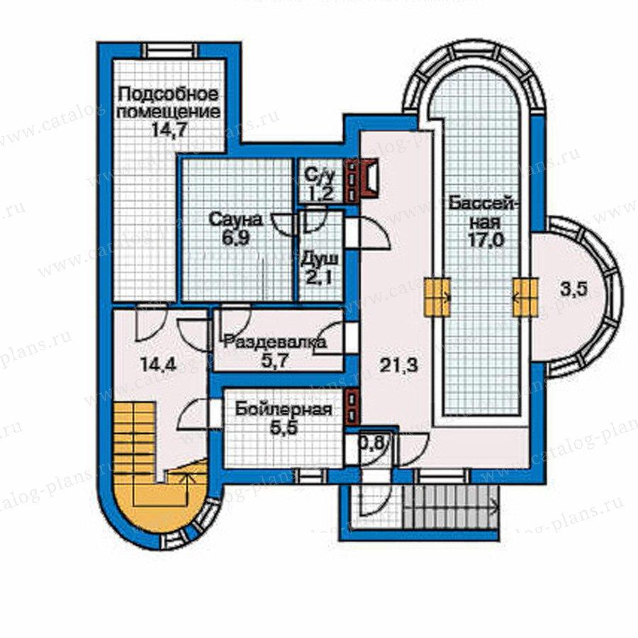 План 1-этажа проекта 32-08