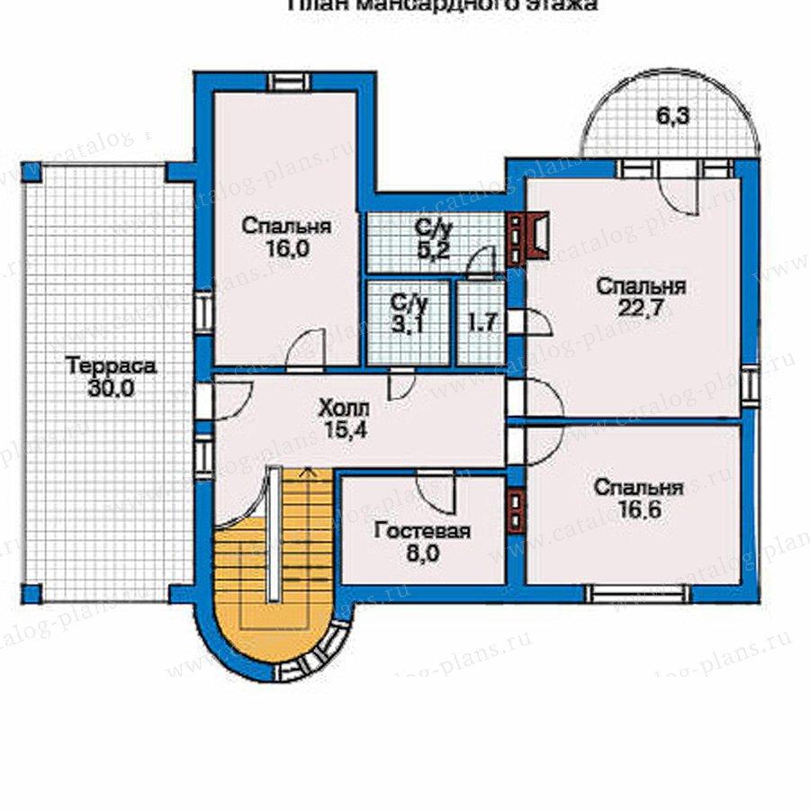 План 3-этажа проекта 32-08