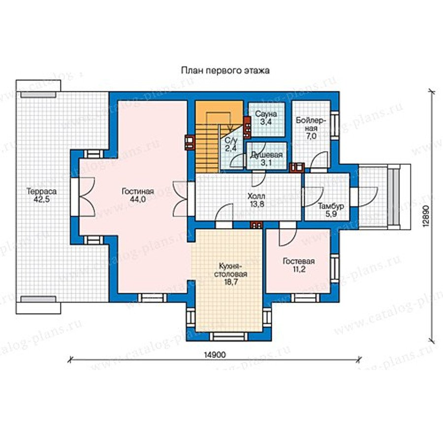 План 1-этажа проекта 58-00K