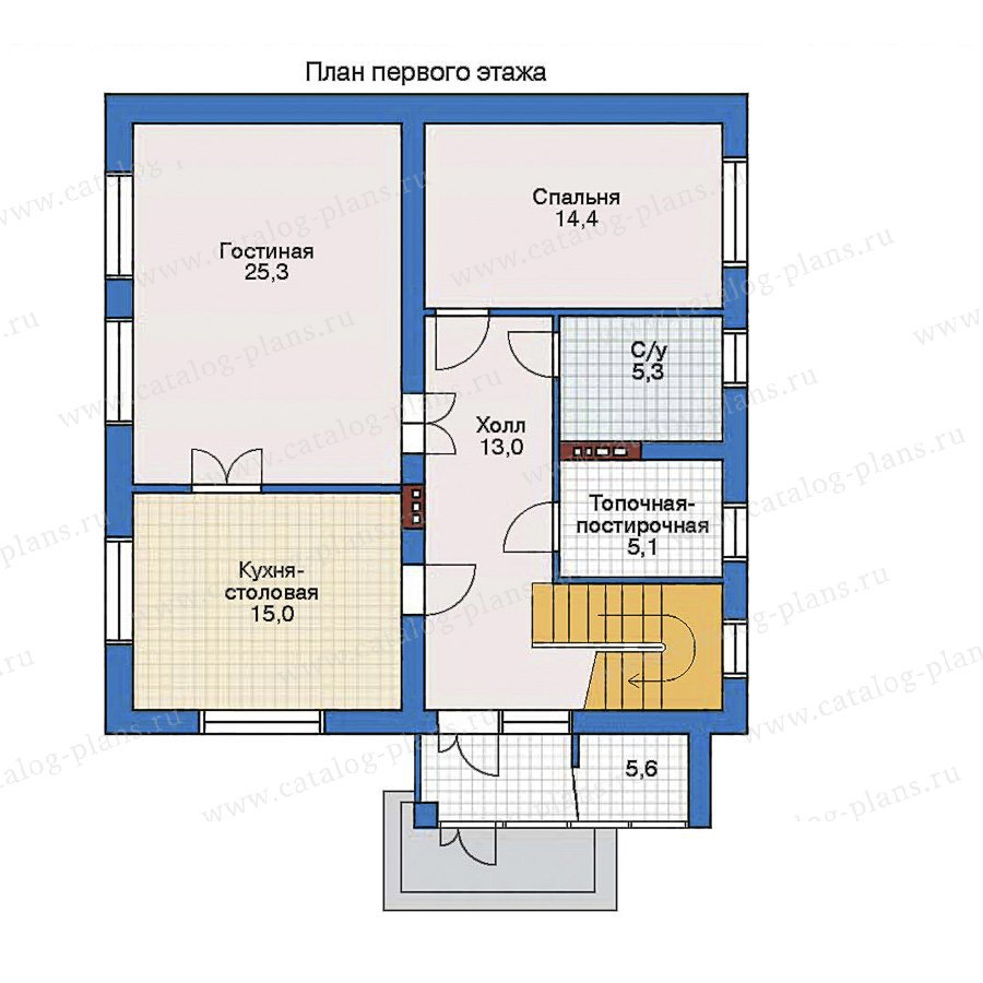 План 2-этажа проекта 32-35