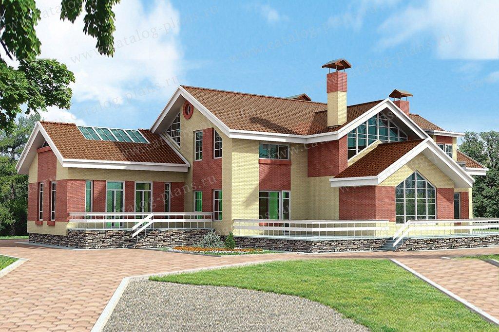 Проект жилой дом #32-88 материал - кирпич, стиль современный