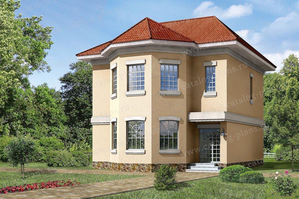 Проект жилой дом #32-75 материал - кирпич, стиль европейский