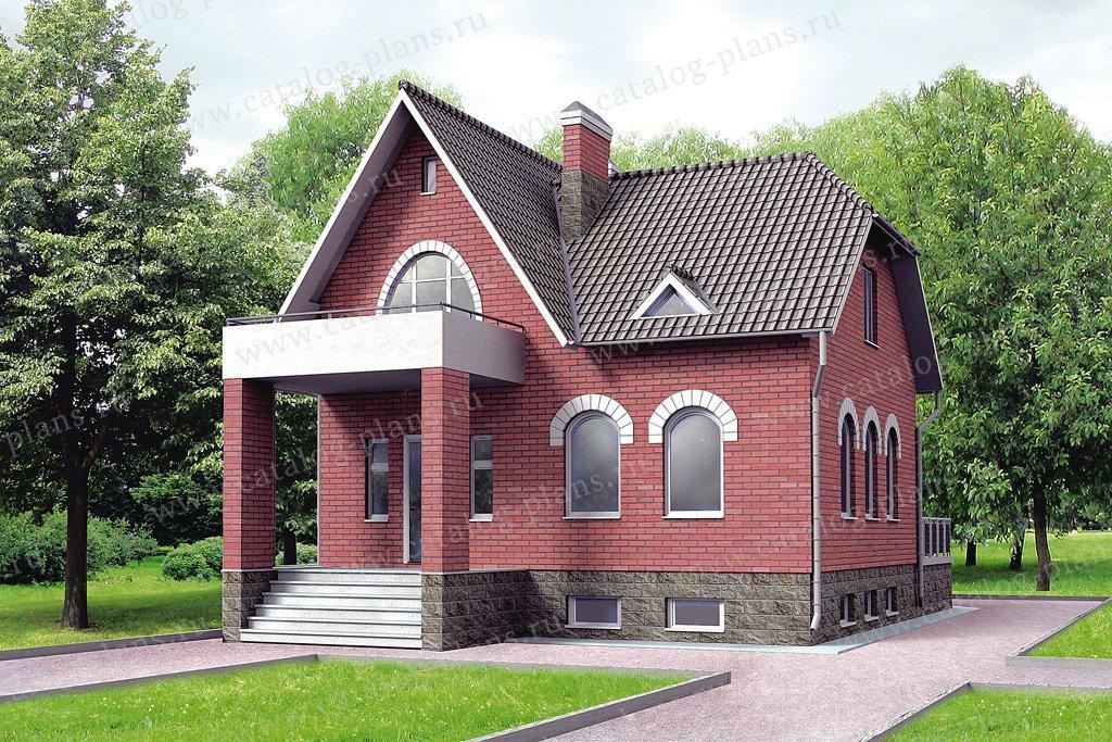 Проект жилой дом #32-54 материал - кирпич, стиль английский