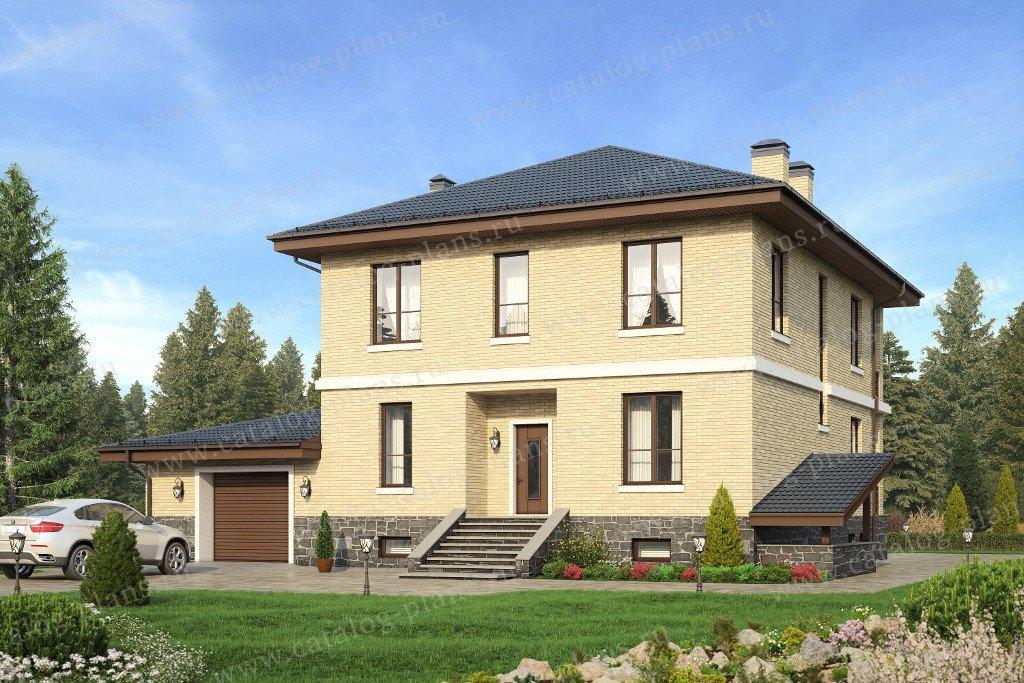 Проект жилой дом #40-24G материал - газобетон, стиль европейский