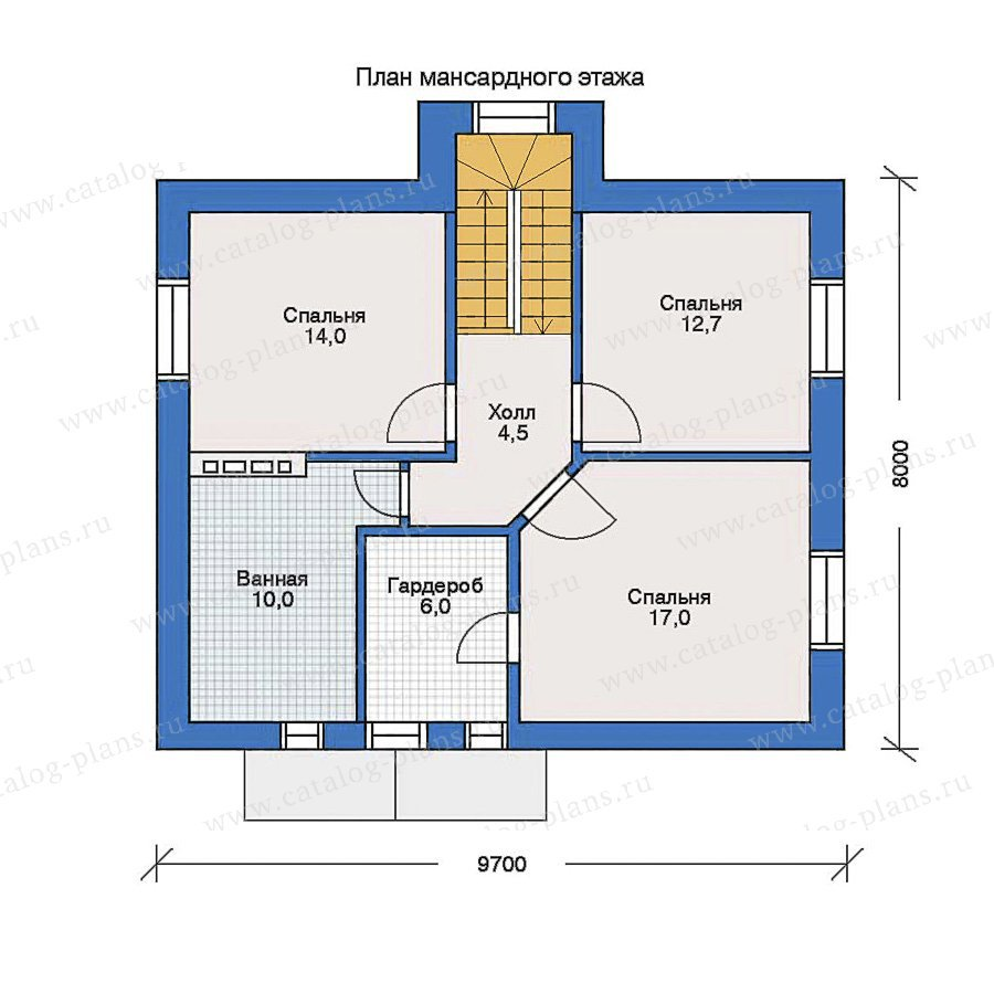 План 2-этажа проекта 32-32