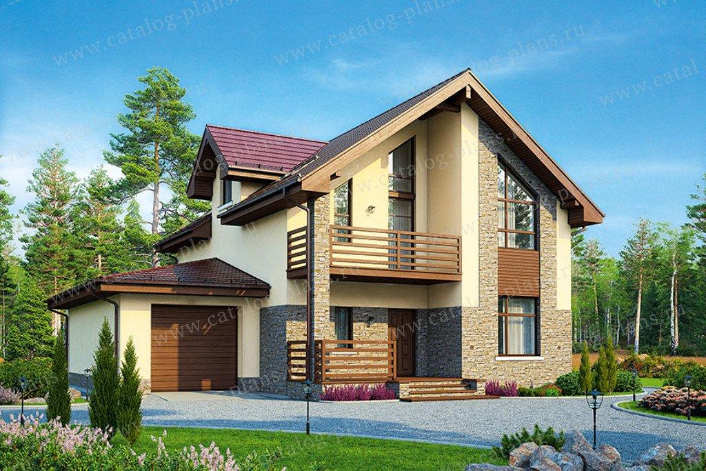 Проект жилой дом #57-00B материал - газобетон, стиль современный
