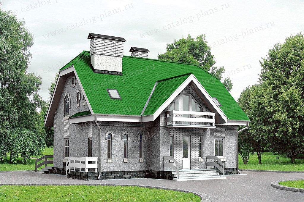 Проект жилой дом #32-39 материал - кирпич, стиль европейский