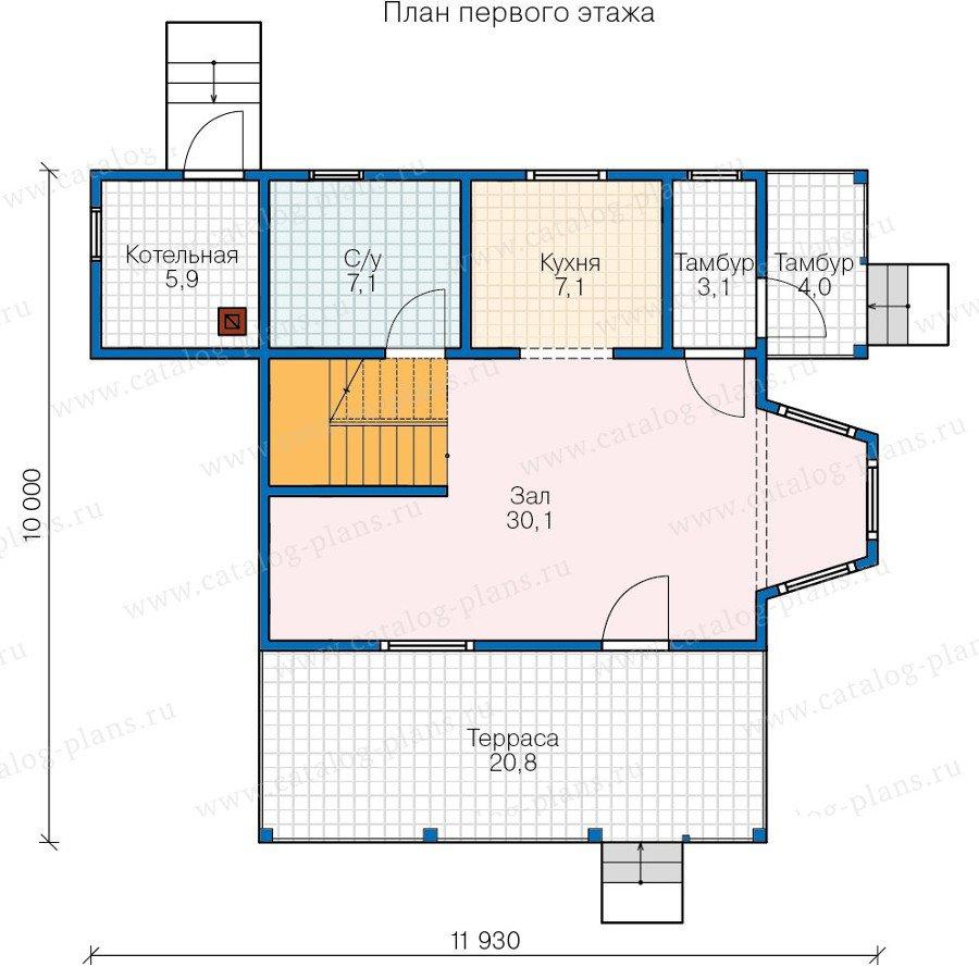 План 1-этажа проекта 13-42