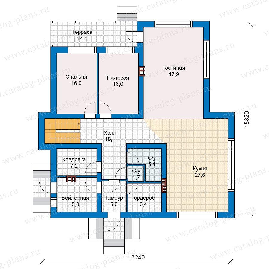 План 1-этажа проекта 40-18G