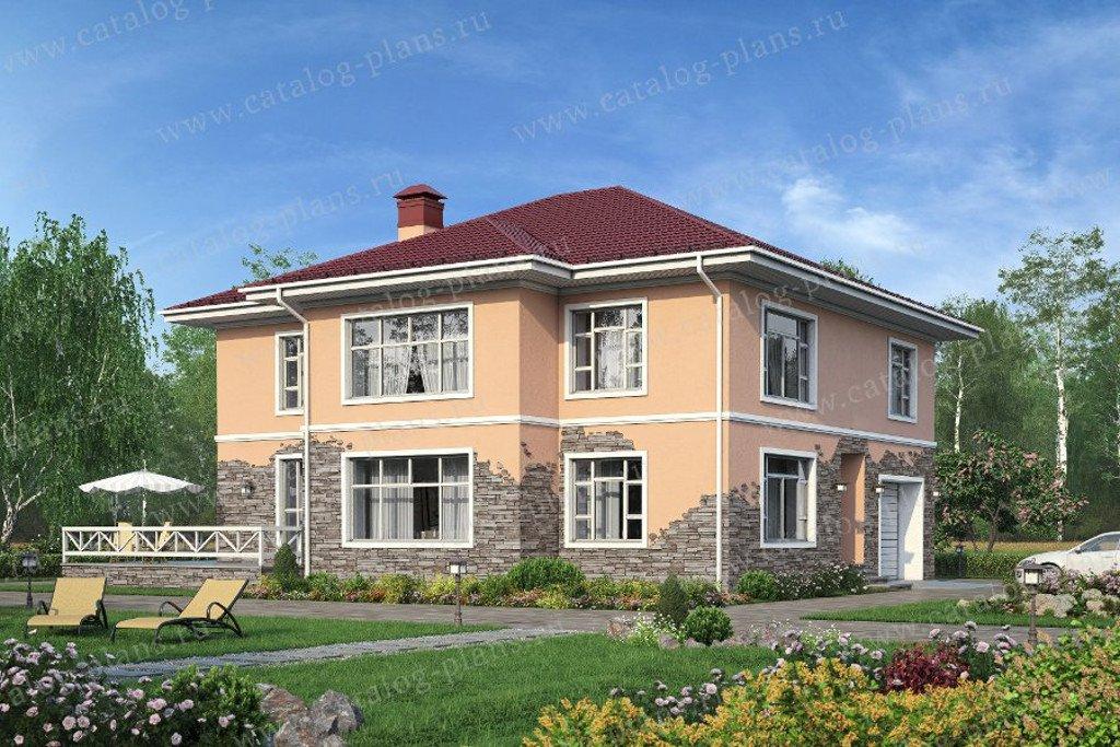 Проект жилой дом #40-21G материал - газобетон, стиль европейский