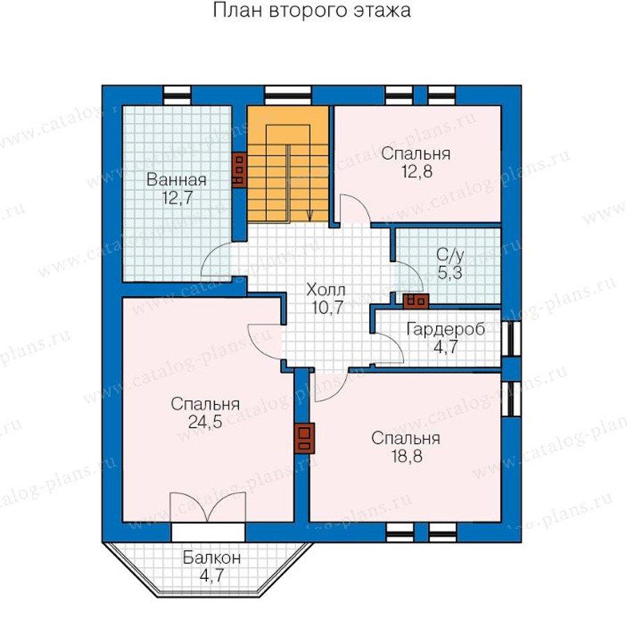 План 2-этажа проекта 40-23
