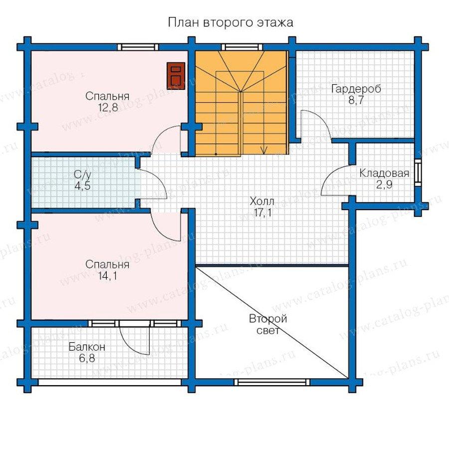 План 2-этажа проекта 13-17