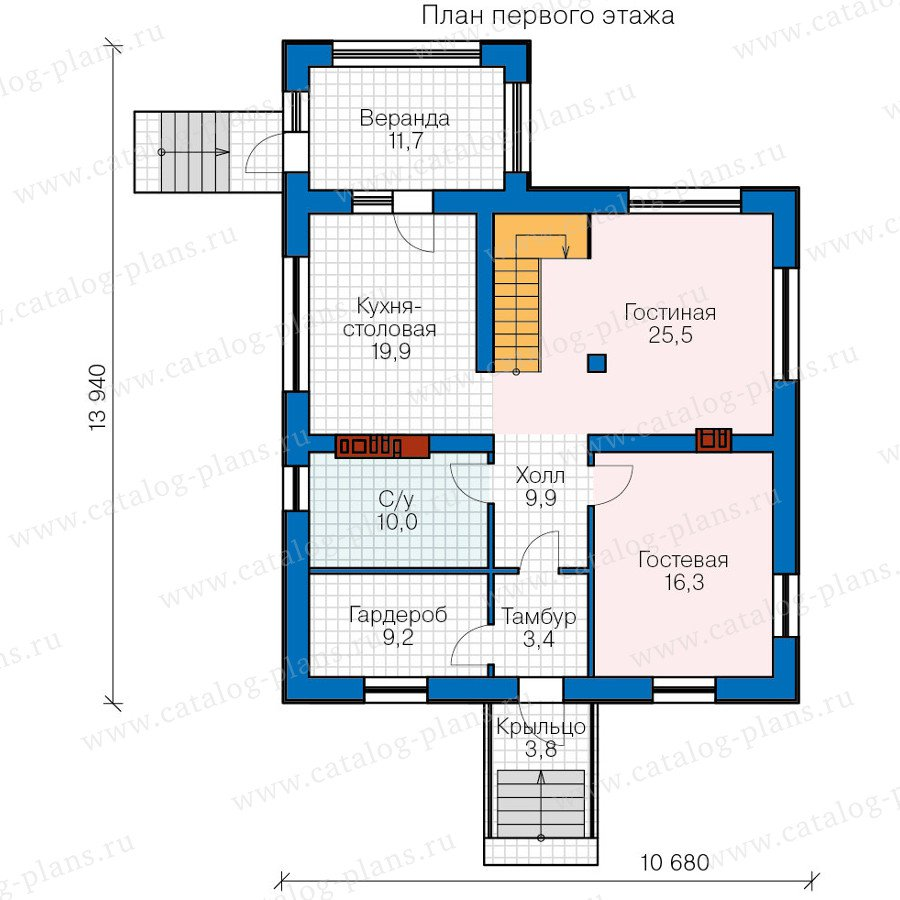 План 2-этажа проекта 40-20G
