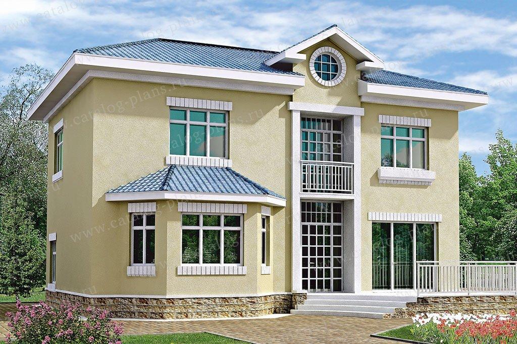 Проект жилой дом #32-98 материал - кирпич, стиль европейский