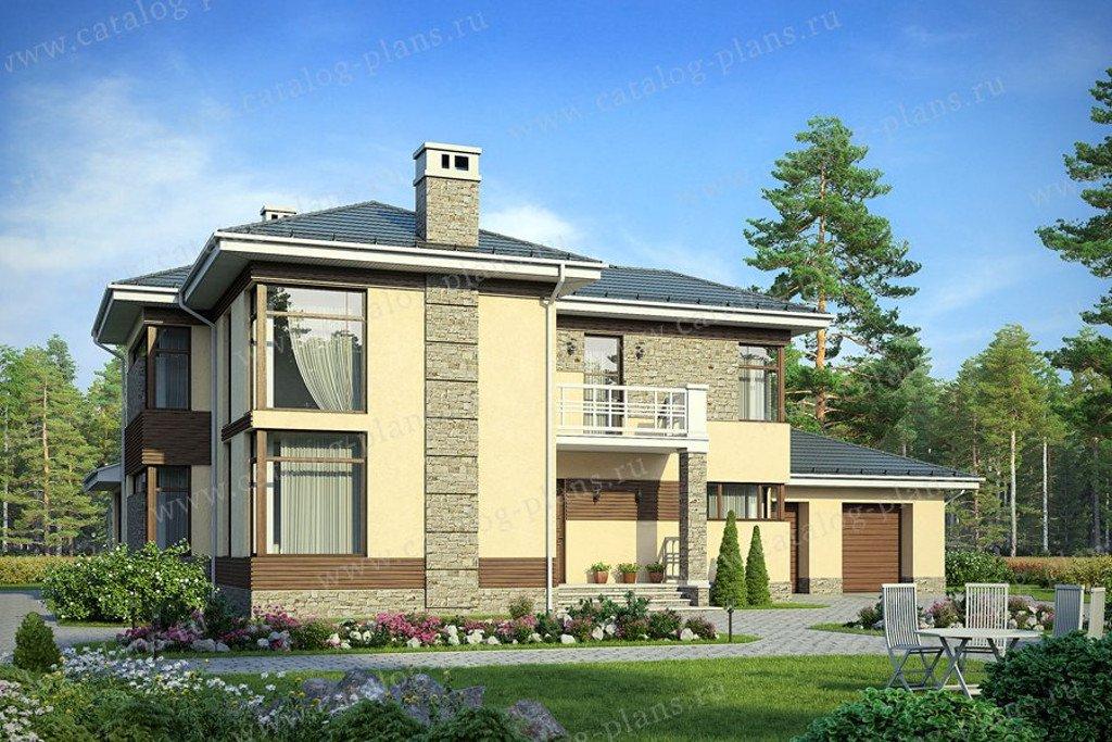 Проект жилой дом #40-26G материал - газобетон, стиль хай тек