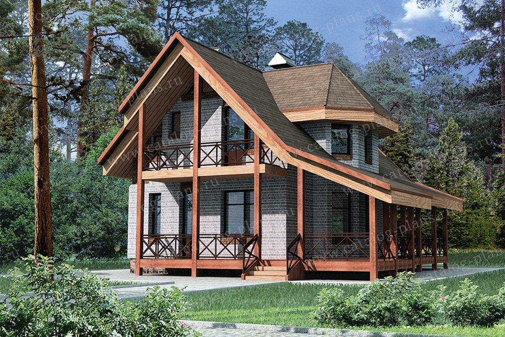 Проект жилой дом #32-43 материал - кирпич, стиль скандинавский