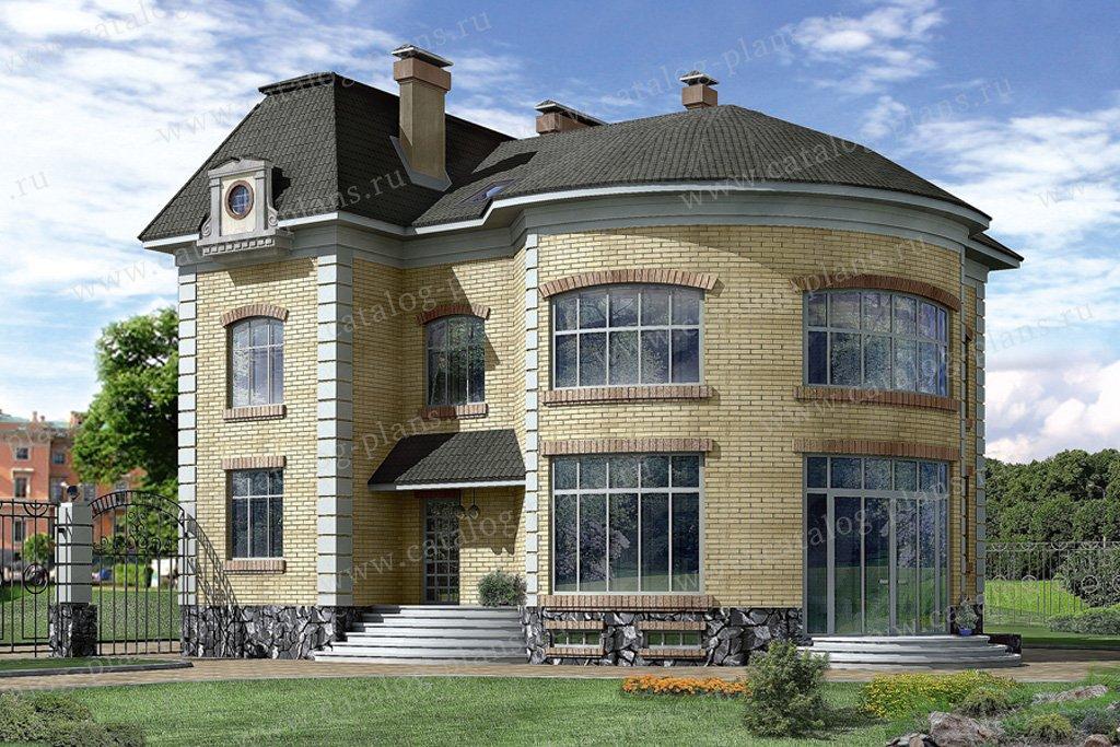 Проект жилой дом #32-64 материал - кирпич, стиль классический
