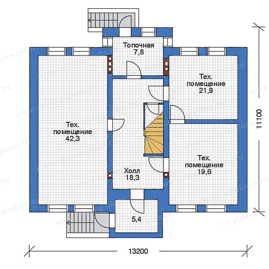 План 1-этажа проекта 32-36