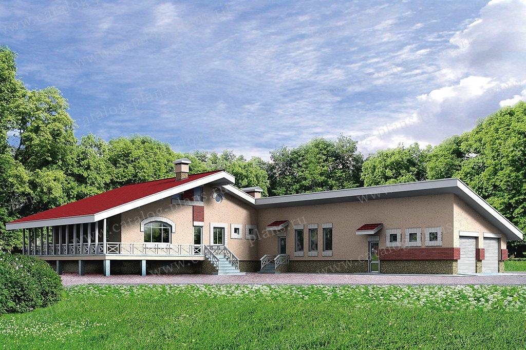 Проект жилой дом #32-47 материал - кирпич, стиль европейский