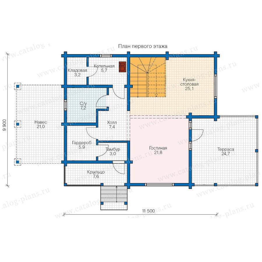 План 1-этажа проекта 13-17