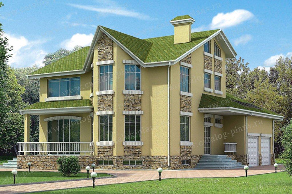 Проект жилой дом #32-82 материал - кирпич, стиль современный