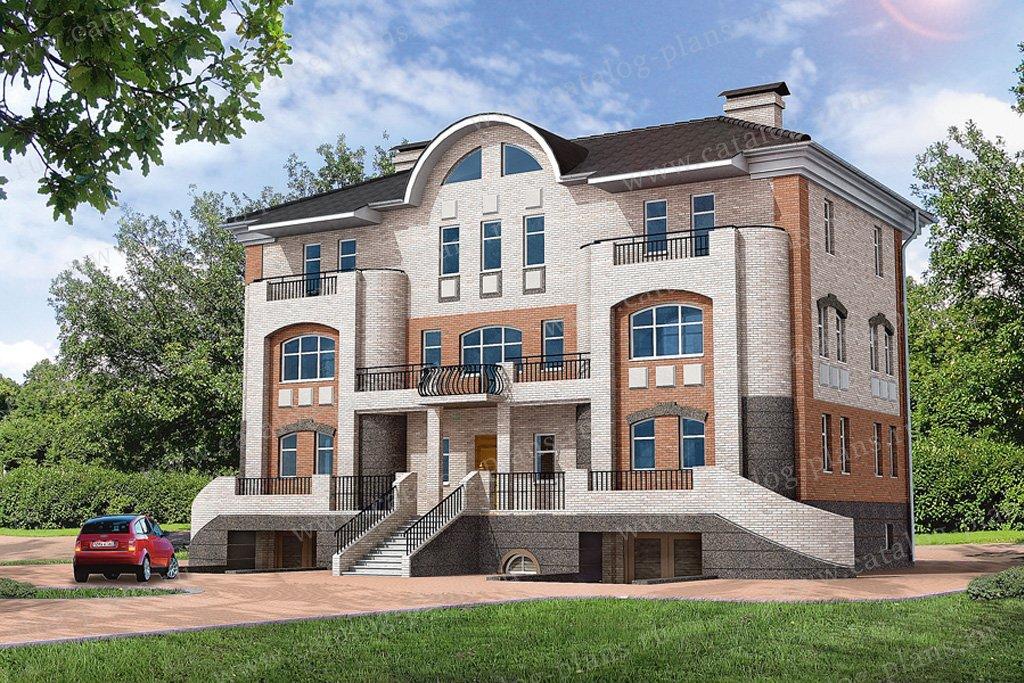 Проект жилой дом #32-34 материал - кирпич, стиль средиземный
