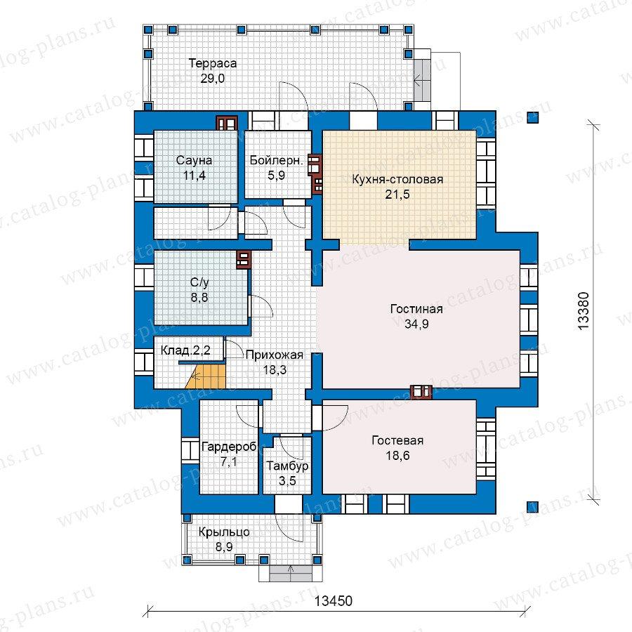 План 1-этажа проекта 40-19G