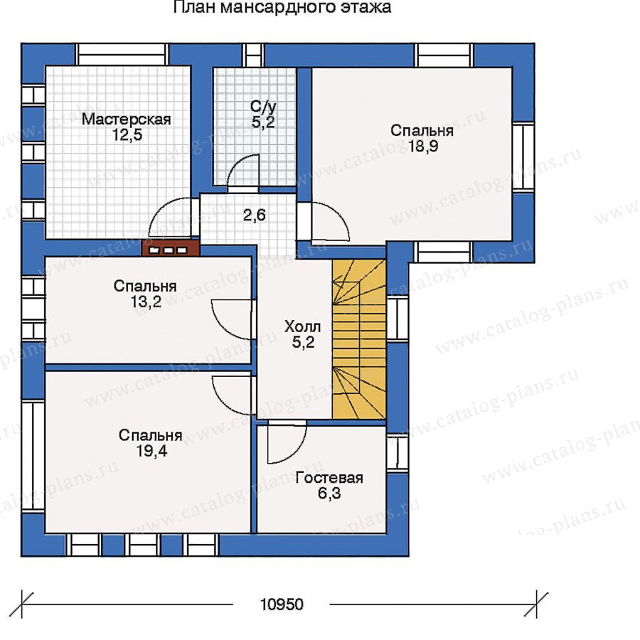 План 2-этажа проекта 32-31