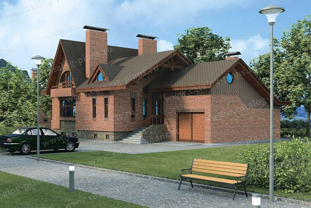 Проект жилой дом #32-95 материал - кирпич, стиль английский