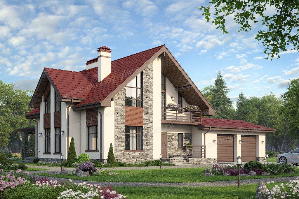 Проект жилой дом #57-00CK материал - кирпич, стиль современный