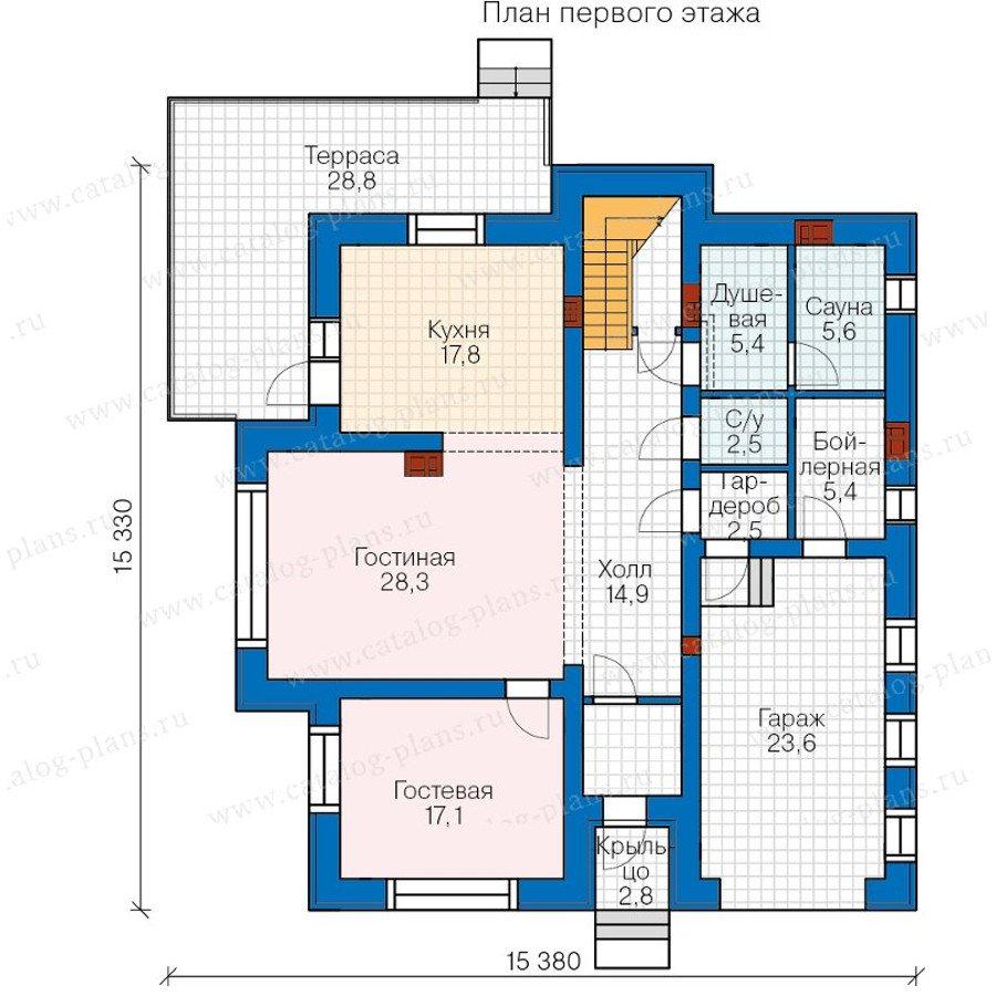 План 1-этажа проекта 40-21