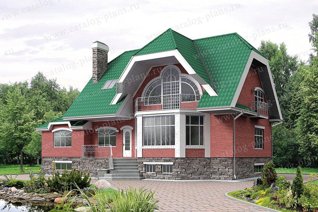 Проект жилой дом #32-53 материал - кирпич, стиль модерн