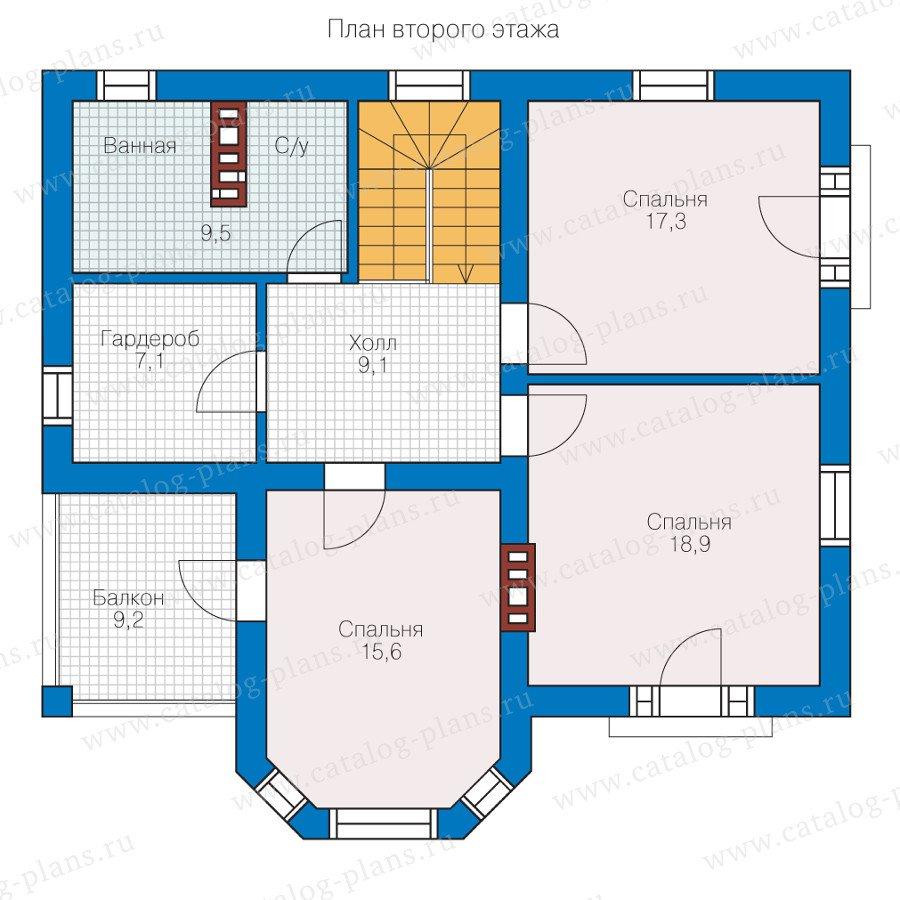 План 2-этажа проекта 40-12