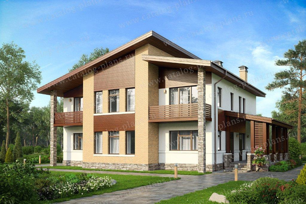 Проект жилой дом #40-19G материал - газобетон, стиль современный