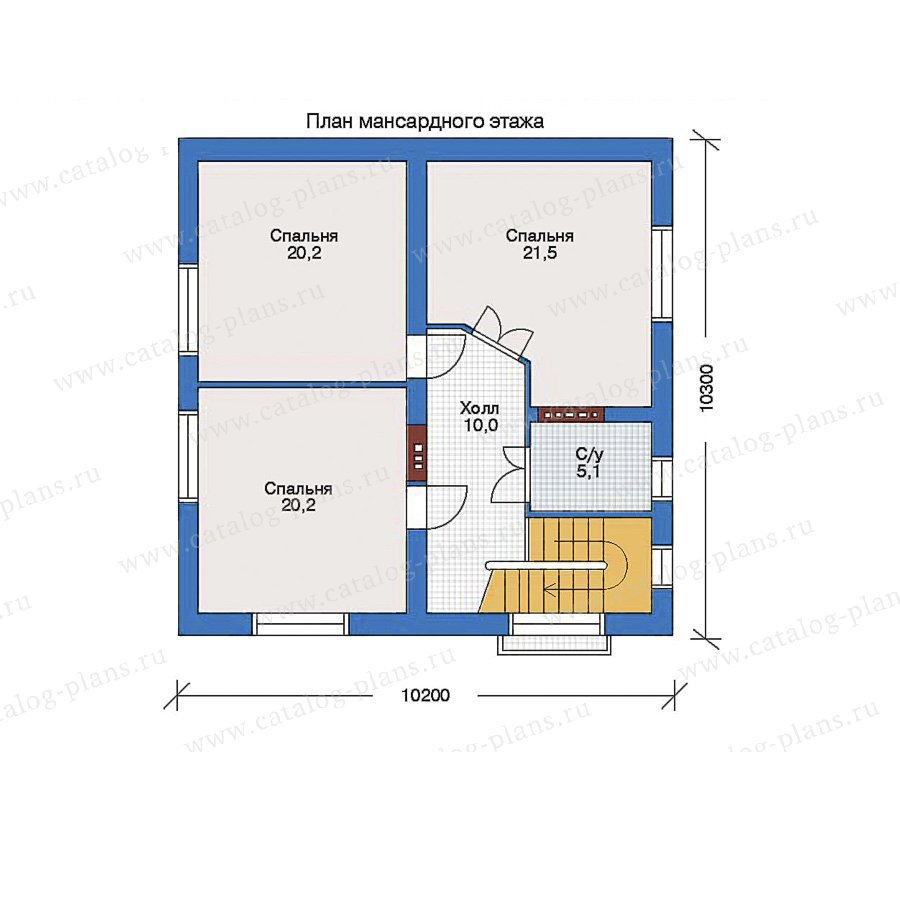 План 1-этажа проекта 32-35