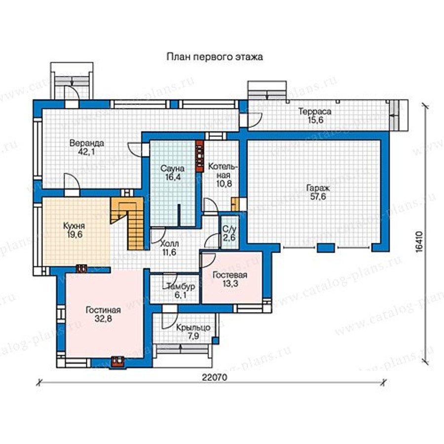 План 1-этажа проекта 40-26G