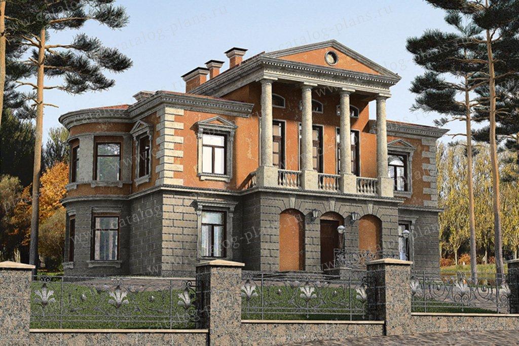Проект жилой дом #32-76 материал - кирпич, стиль классический