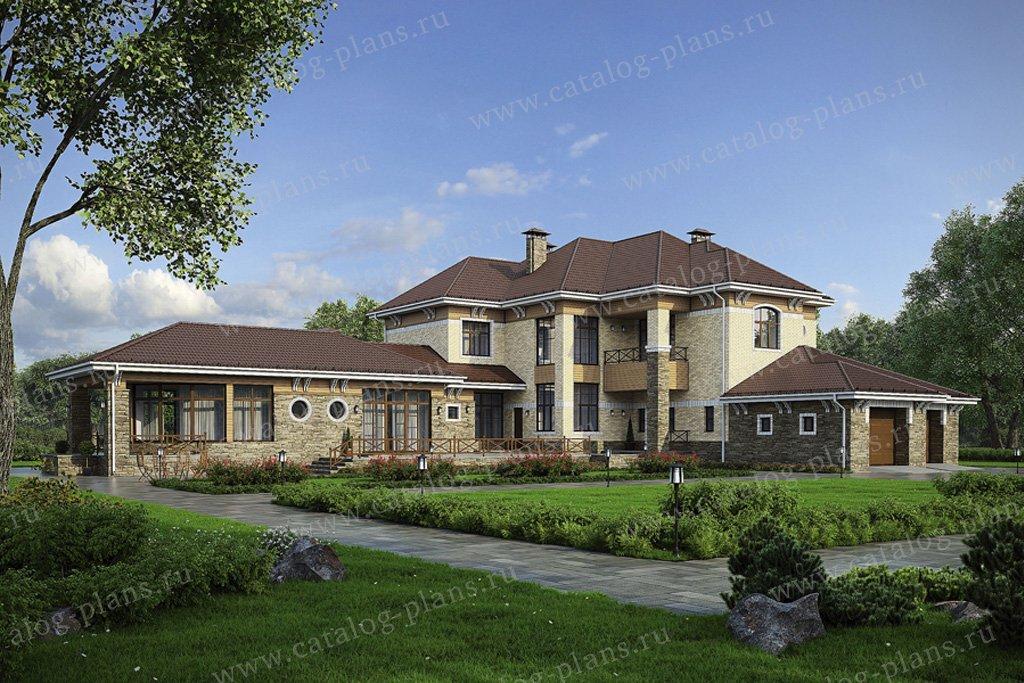 Проект жилой дом #32-45 материал - кирпич, стиль английский
