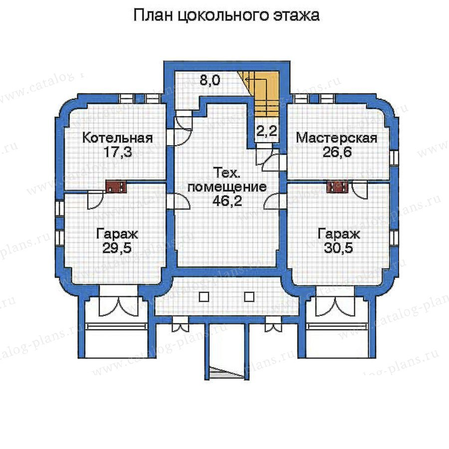 План 1-этажа проекта 32-34