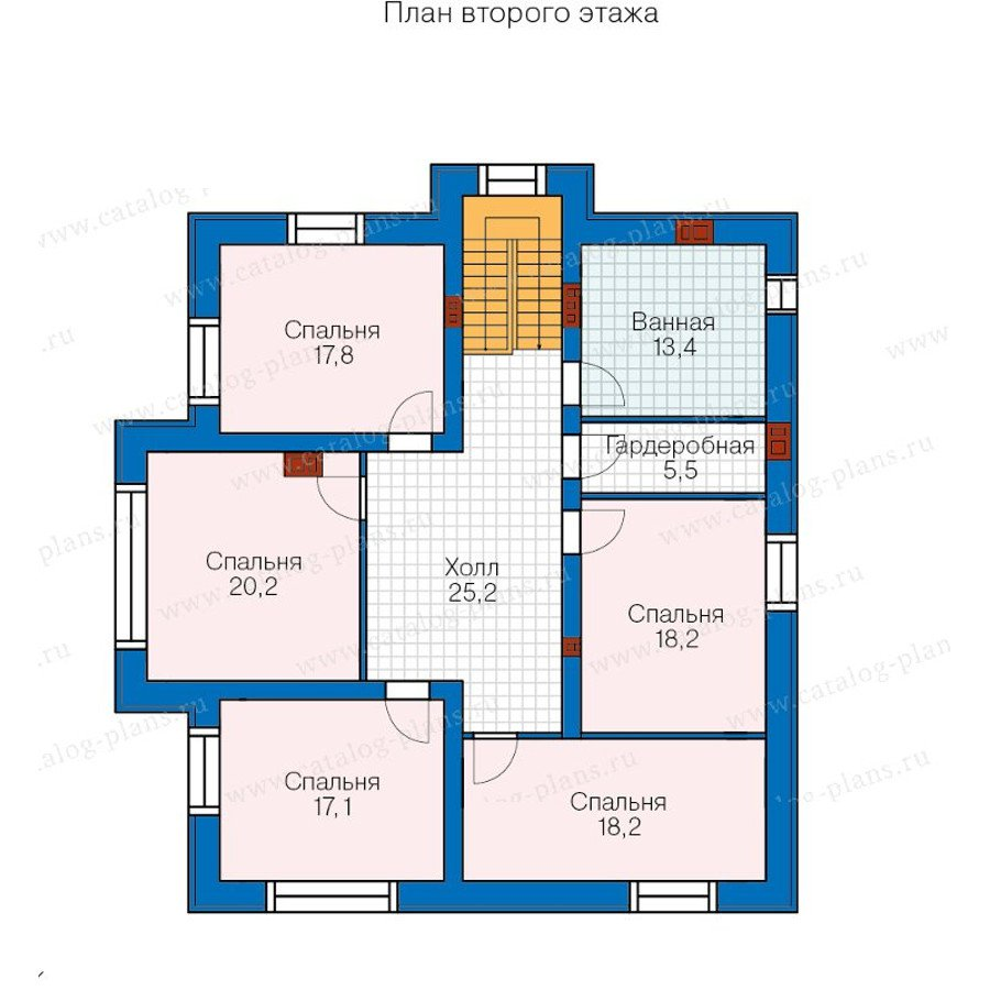 План 2-этажа проекта 40-21