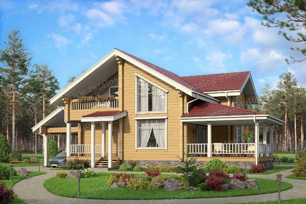 Проект жилой дом #13-17 материал - дерево, стиль скандинавский