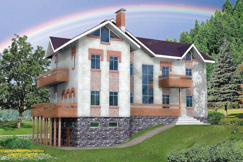 Проект жилой дом #32-33 материал - кирпич, стиль европейский