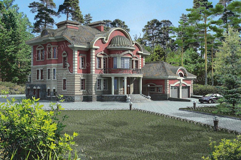 Проект жилой дом #32-87 материал - кирпич, стиль рококо