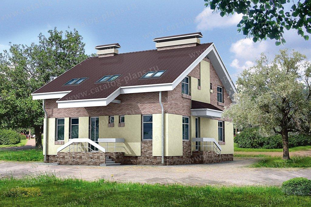 Проект жилой дом #32-42 материал - кирпич, стиль современный