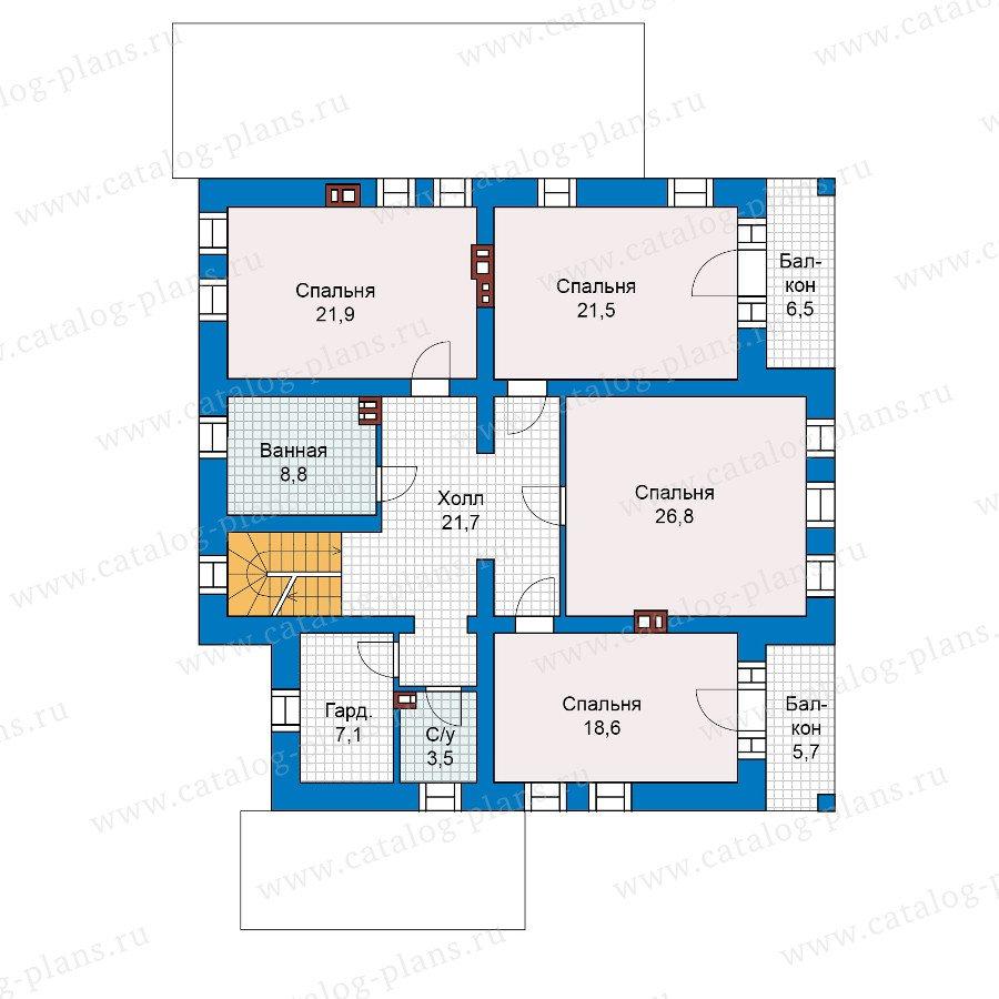 План 2-этажа проекта 40-19