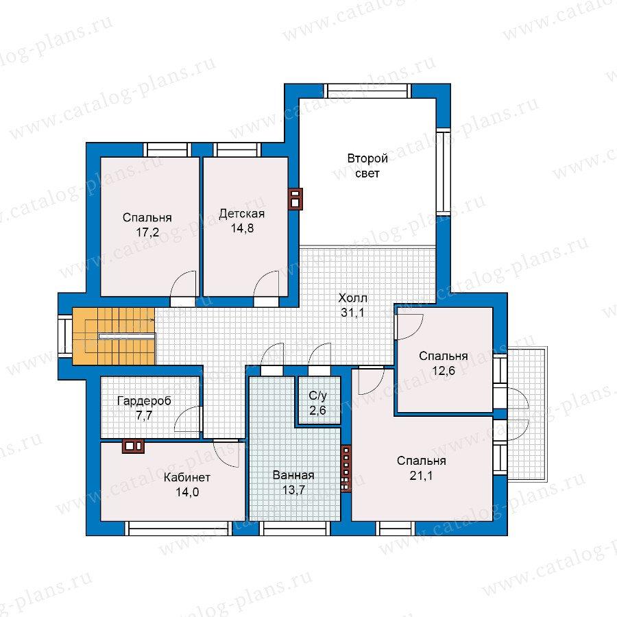 План 2-этажа проекта 40-18G