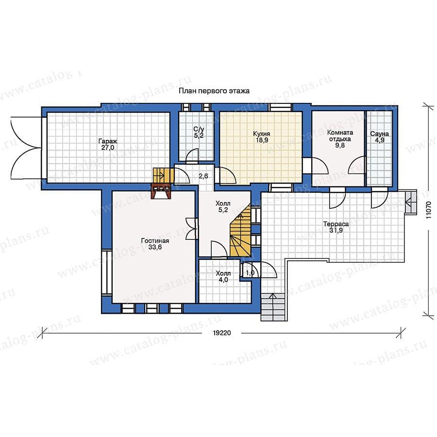 План 1-этажа проекта 32-31