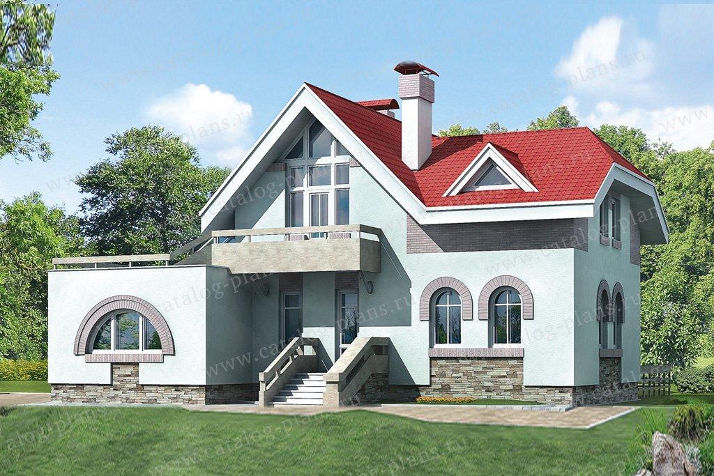 Проект жилой дом #32-79 материал - кирпич, стиль модерн