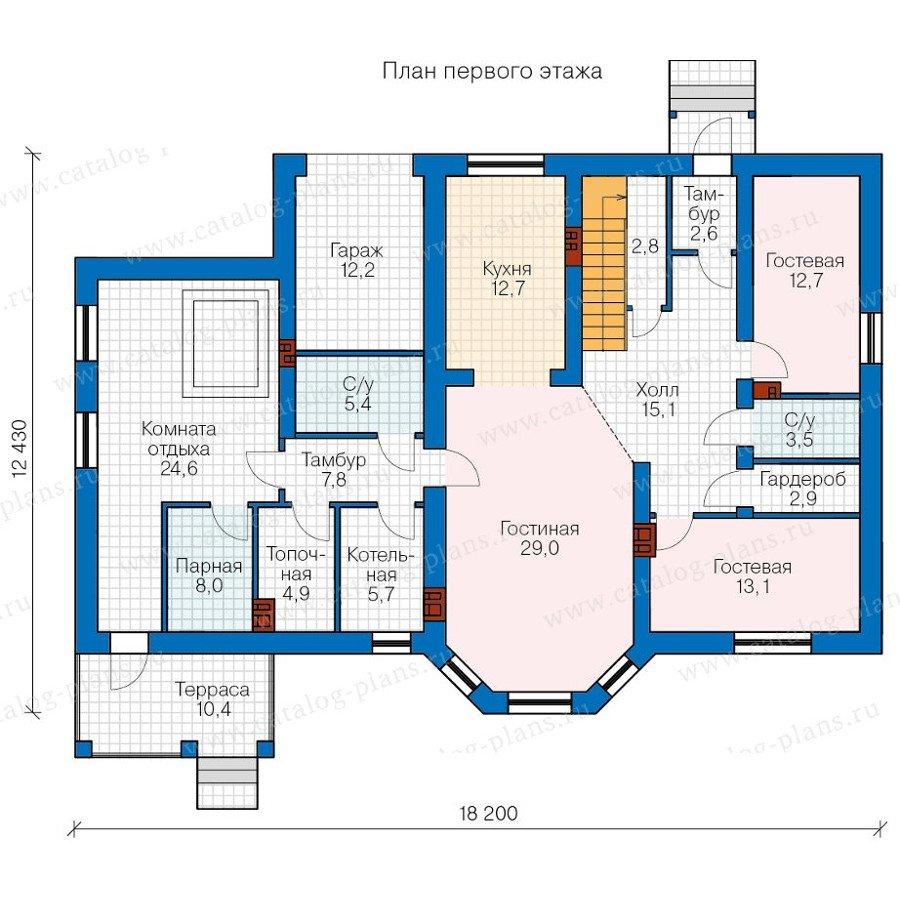 План 1-этажа проекта 40-23